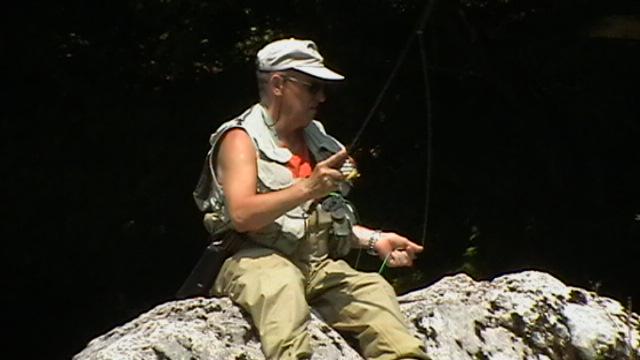 Fauler Fliegenfischer in der Sava Bohinjka