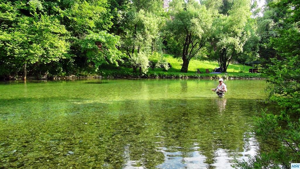 Fliegenfischen in der Radovna im Juni 2015