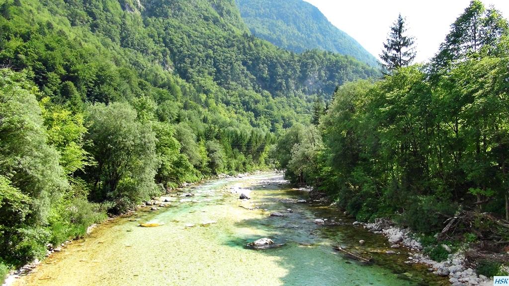 Soca in Slowenien im Juni 2015